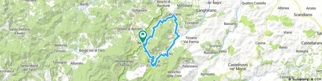 Val Baganza - Passo del Sillara - Val Parma da Berceto