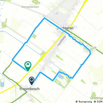 Bos route 10 km