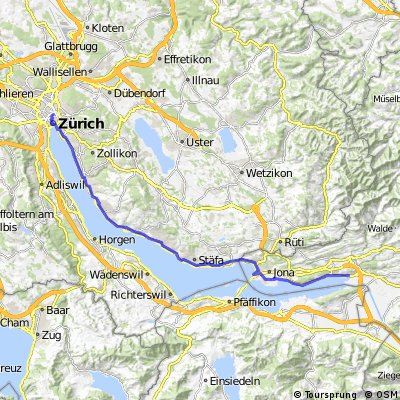 Cycling routes and bike maps in and around Canton of St Gallen