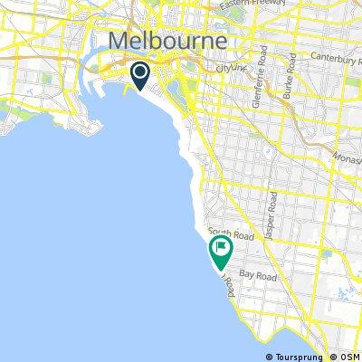 ride from Port Melbourne to Sandringham