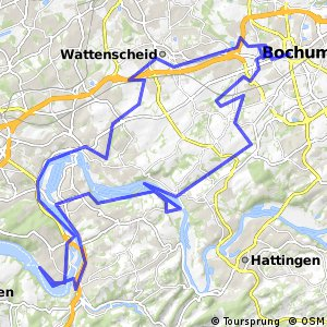 Cycling routes and bike maps in and around Bochum Bikemap Your