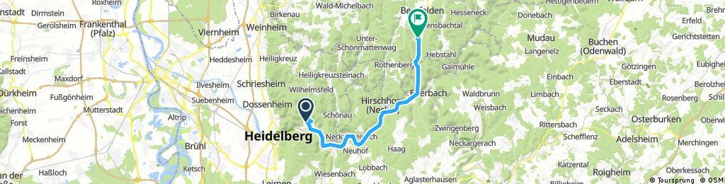 Lange Radrunde von Heidelberg nach Beerfelden