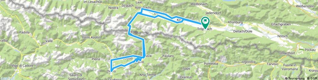 Tröpolach - Plöckenpass - Monte Zoncolan