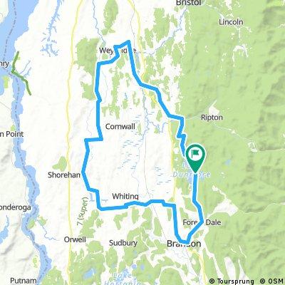 Covered bridges bike ride Vermont