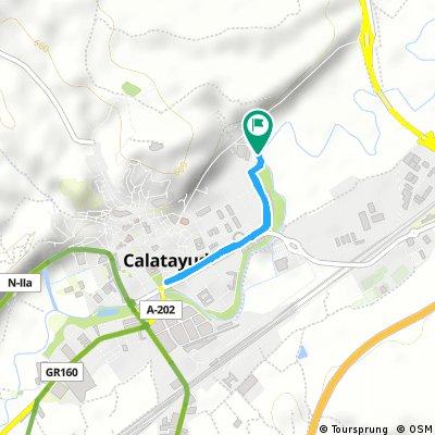 Brief bike tour through Калатаюд