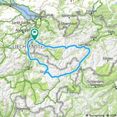 FELDKIRCH - DAVOS -FLÜELA - ENGADIN - LANDECK - ARLBERG - FELDKIRCH