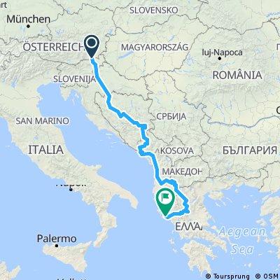 Balkantour: Spielfeld - Korfu
