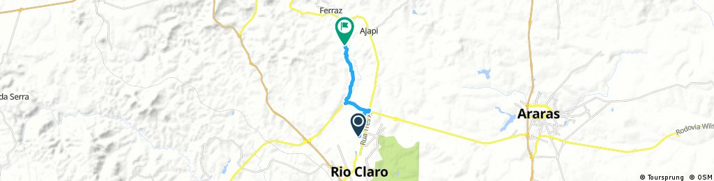ride through Rio Claro