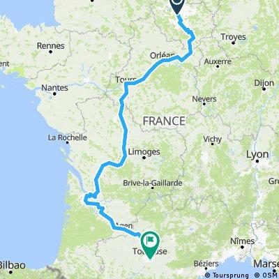 Paris to Toulouse