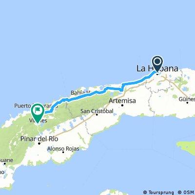 Primera etapa Cuba 2017 - 214km