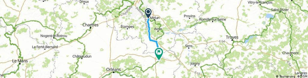 Seine-Port à Cepoy par Nemours 70k