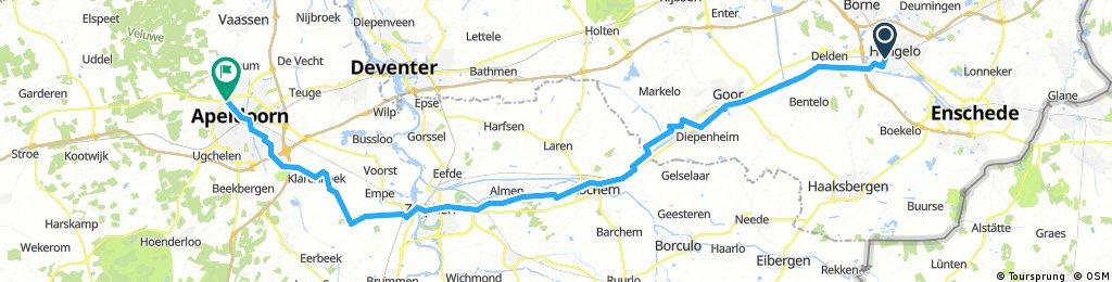2017-1 NL Hengelo nach Apeldoorn 72 km