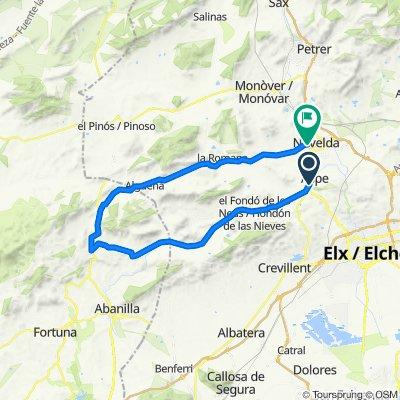 Ruta 17 : Marcha Vall de las Uvas - Monforte del Cid