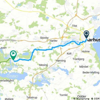 Aarhus-Ry via Søballe