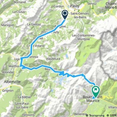 Mont-Blanc-Rundfahrt: 2. Etappe