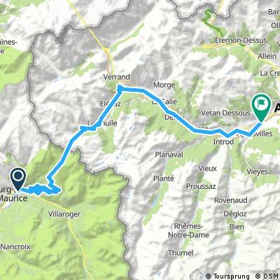 Mont-Blanc-Rundfahrt: 3. Etappe