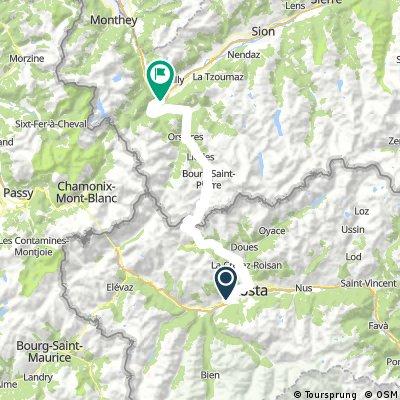 Mont-Blanc-Rundfahrt: 4. Etappe
