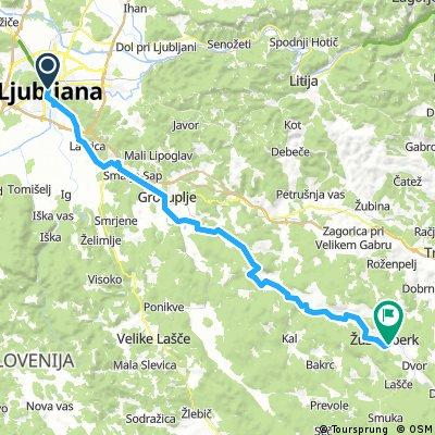 D2 - Ljubljana - Žužemberk stranske poti
