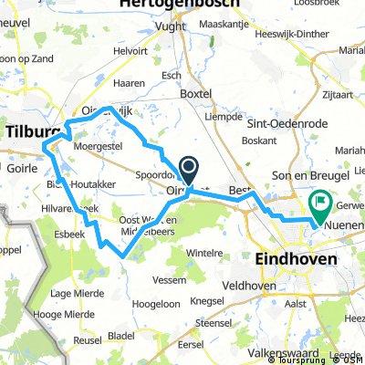 3-1-2017 (di) Rondje om het Leijpark Tilburg