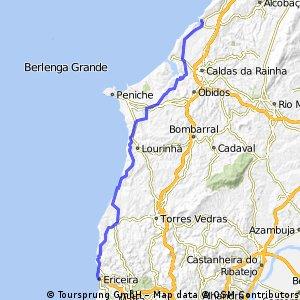 Ericeira Cascais Ericeira Bikemap Your Bike Routes - Portugal map ericeira