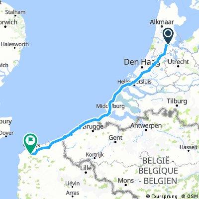Amsterdam to Calais