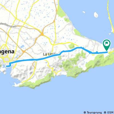 Caravaning La Manga to Cartegena return