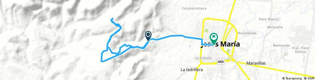 ride from Pastviny to Jesús María