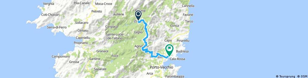 Corsica - Zonza - Porto Vecchio - zjazd