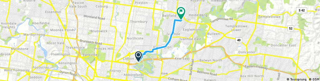 Quick bike tour from Fairfield to Ivanhoe