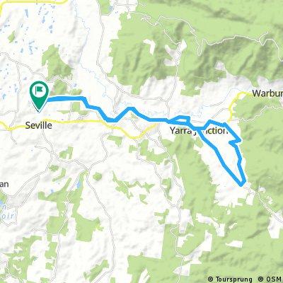 Warurton rail trail starting from seville