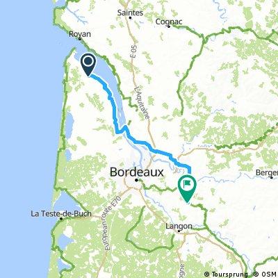 Jau Dignac et Loirac St Genis du bois via Blaye