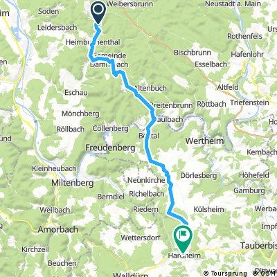 OF Würzburg Etappe 2, Mespelbrunn - Hardheim/Odenwald