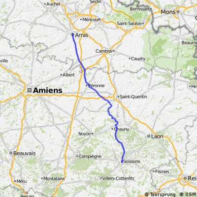 Bham to Zurich - Day 2 - Arras to Soissons (80 miles)