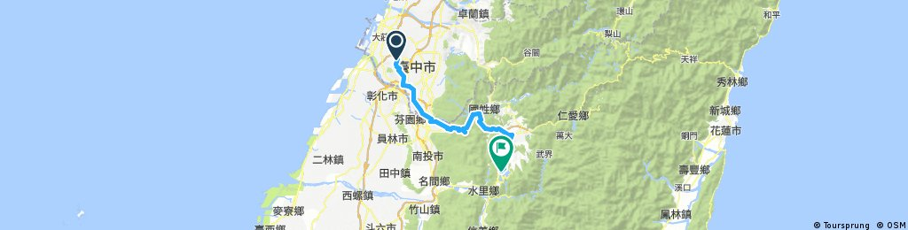 Cycling Taiwan Day 3 : Taichung to Sun Moon Lake | Bikemap ...