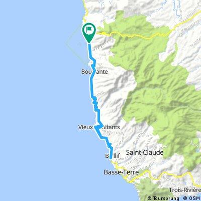 Bouillante - Malendure - Bailif - Bouillante 52km 850m
