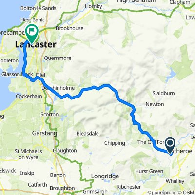 Clitheroe to Lancaster
