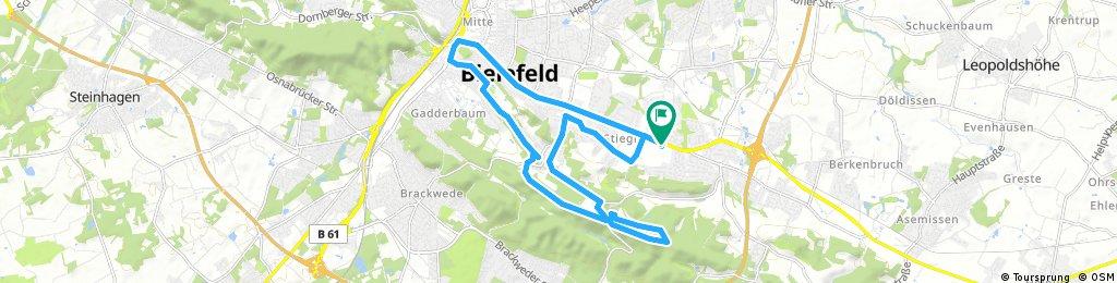 ride through Bielefeld