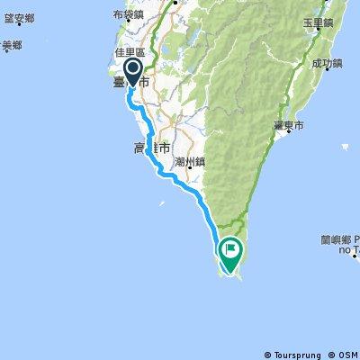 Cycling Taiwan Day 6 : Tainan to Kenting