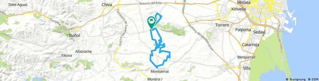 AMPLIACIÓN: Calicanto-Monserrat-Calicanto por sendas