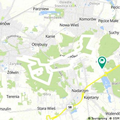Warsaw Bike Trophy - MTB, dystans 26 km (dojazd + 1 runda)