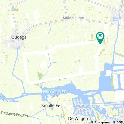 Tijritparcours  8 kilometer Oudega