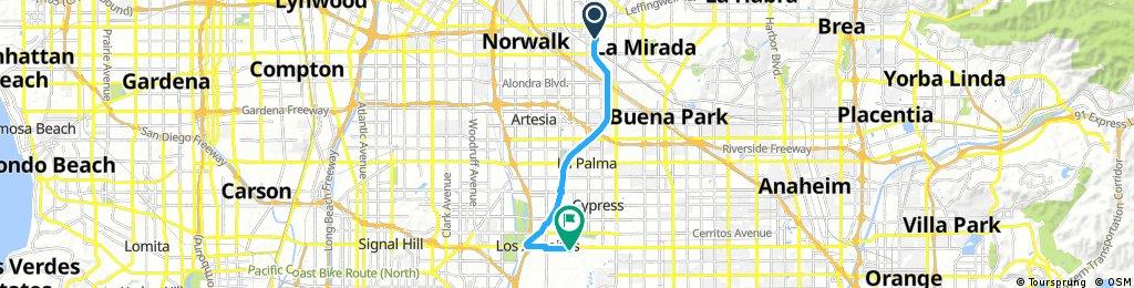 bike tour from La Mirada to Los Alamitos