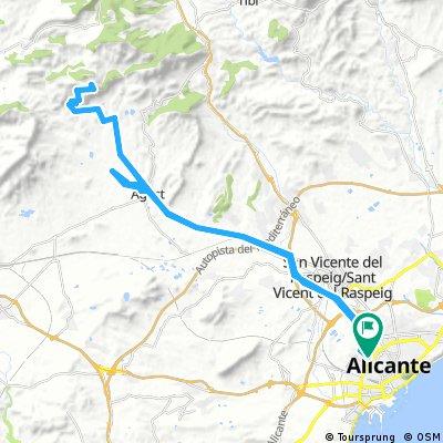 Alicante-Palomaret-Alicante