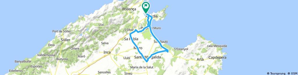 Mallorca-Port Blue-60km flad