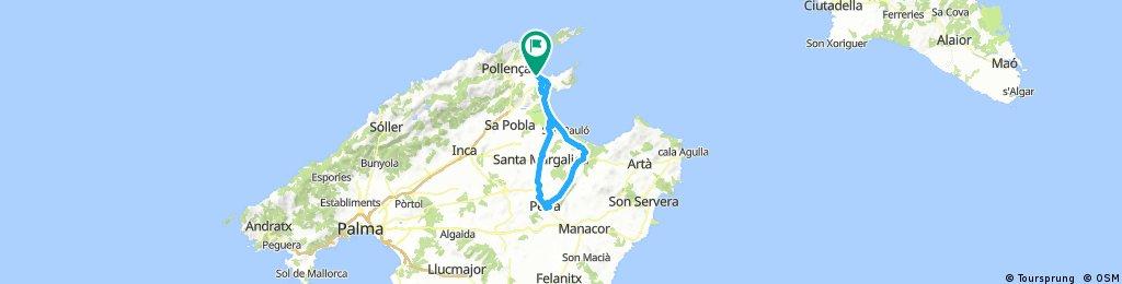 Mallorca-Port Blue-Petra-75km-flad