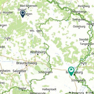 Tour 2017 - 2. Etappe Uelzen - Magdeburg direkt