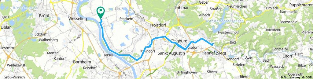 Radtour zur Sieglinde in Hennef