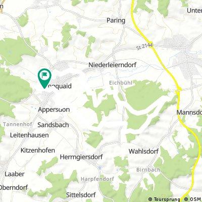 Kiesgrube Leierndorf - Munazaun - SMP - Allersdorfer Höhe- Waldkiga -Sankt Johann - Siegersdorf