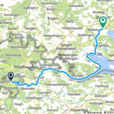 Bodensee 5: Jestetten - Wangen - Stockach-Espasingen