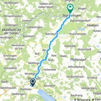 Bodensee 6: Espasingen / Stockach - Meßkirch - Sigmaringen